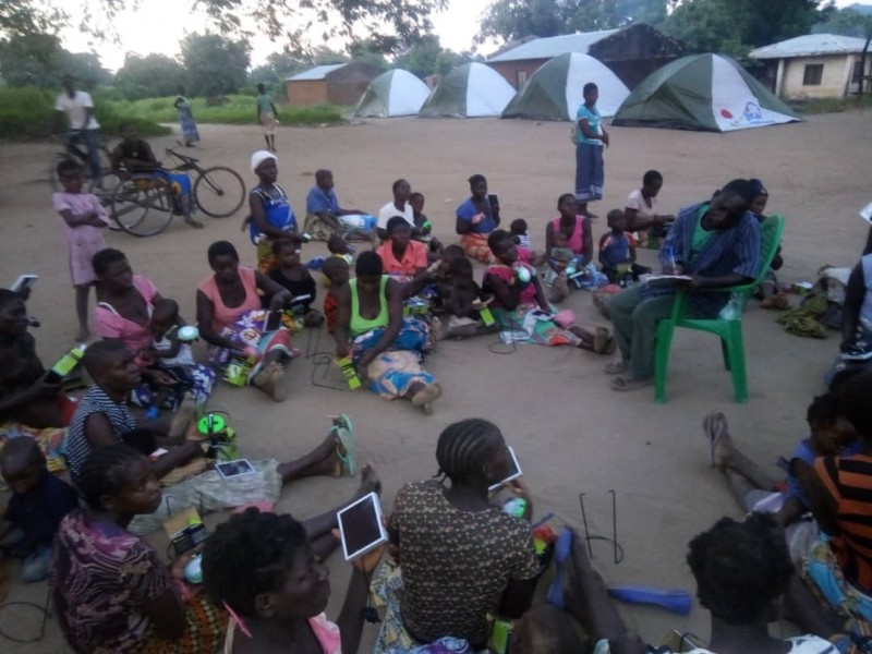SolarAid and SunnyMoney deliver solar lights to camps after Cyclone Idai