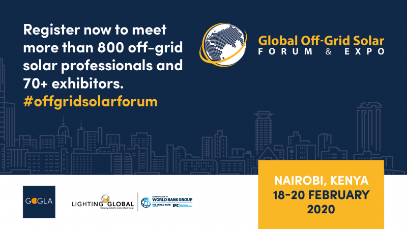 register now to meet 800 off-grid solar professionals and more than 70 exhibitors