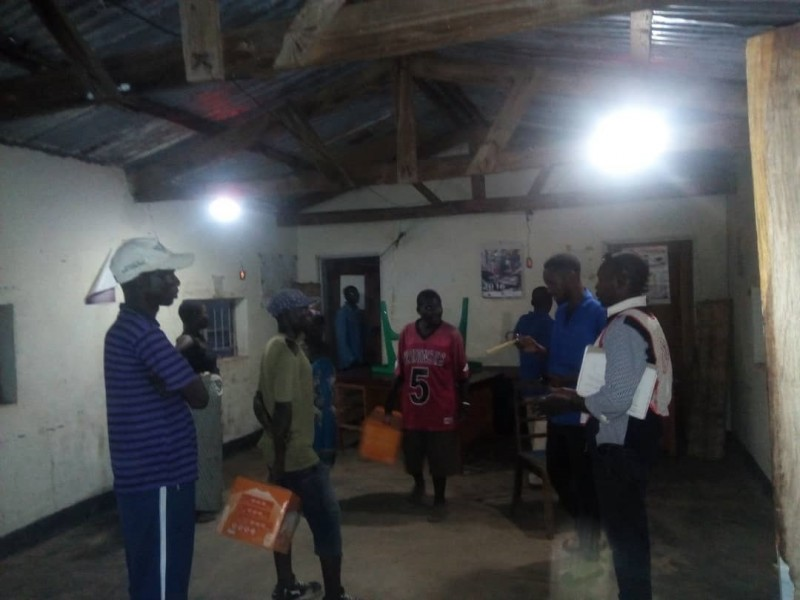 Solar lights in relief camps after Cyclone Idai